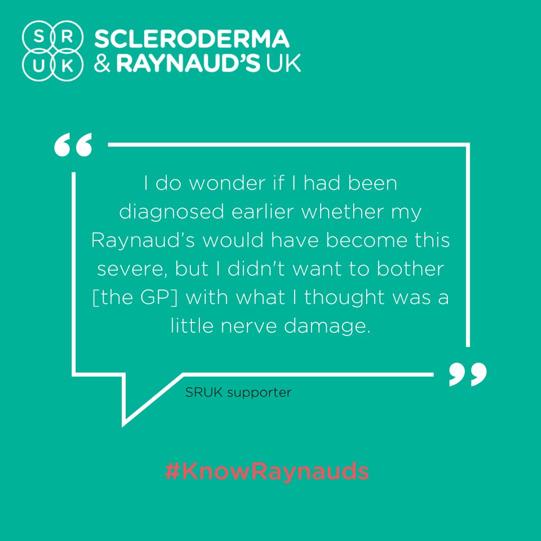 SRUK raynauds awareness quote